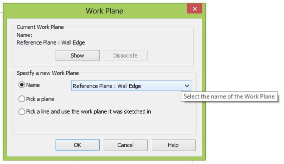 Select Work Plane